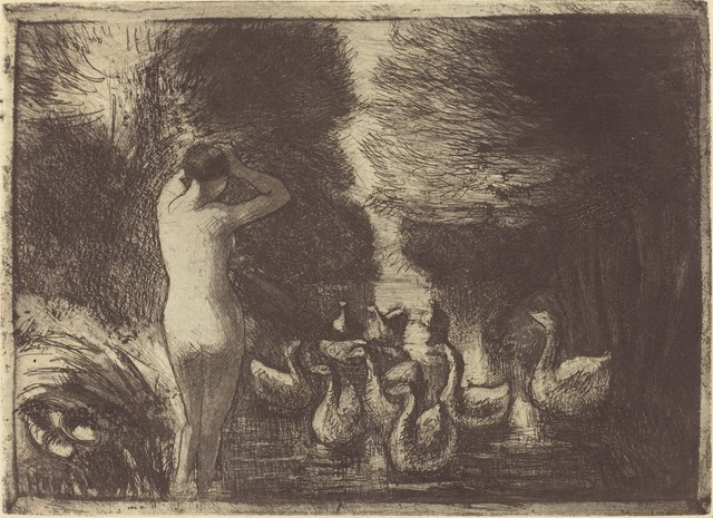Camille Pissarro, 'Baigneuse aux oies (Bathers with Geese)', 1895, National Gallery of Art, Washington, D.C.