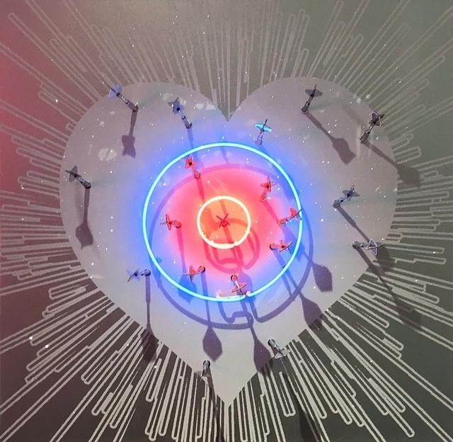 , 'Neon Target Heart ,' , Art Angels