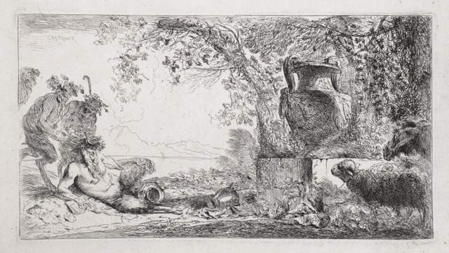 , 'Pan Reclining Before an Urn,' 1648, R. S. Johnson Fine Art