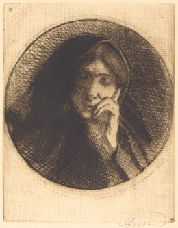 Albert Besnard, 'Madame Aman Jean', 1898, Print, Etching in brown-black on cream laid paper, National Gallery of Art, Washington, D.C.