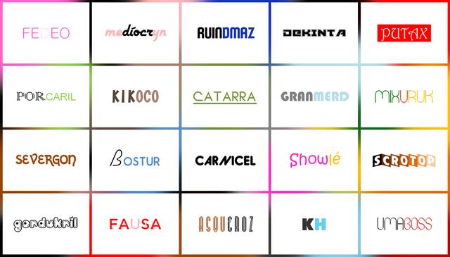 , 'Pejorativas e Similares, da série Marcas [Pejorative and Similar, from the series Brands],' 2017, Casa Triângulo