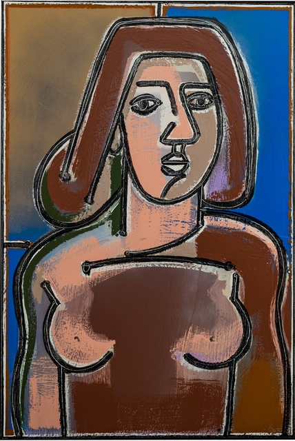 , 'Woman in Blue and Sienna,'  2019, JoAnne Artman Gallery