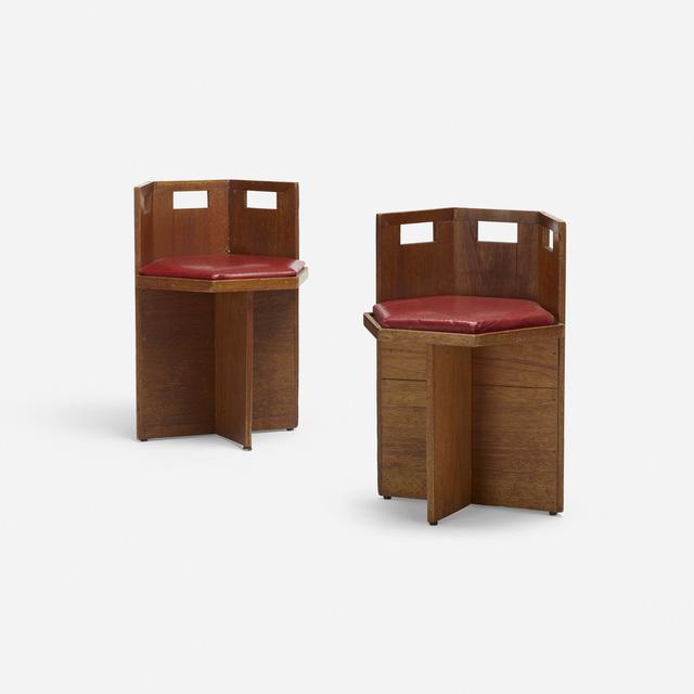'chairs, pair', c. 1950, Rago/Wright