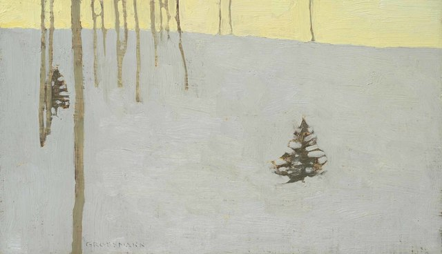 , 'Trees and Fading Winter Day,' 2018, Jonathan Cooper