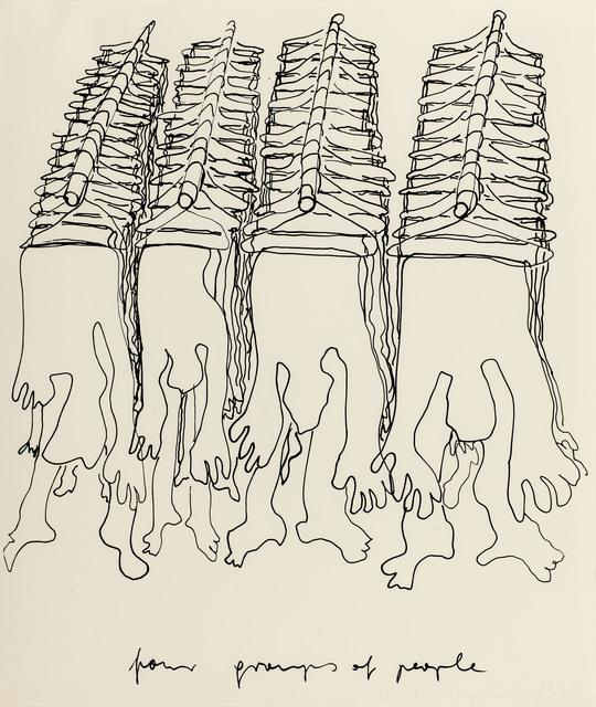 , 'Four Groups of People,' 1970, Galerie Kovacek & Zetter