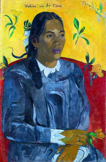 , 'Tahitian Woman with a Flower,' 1891, de Young Museum