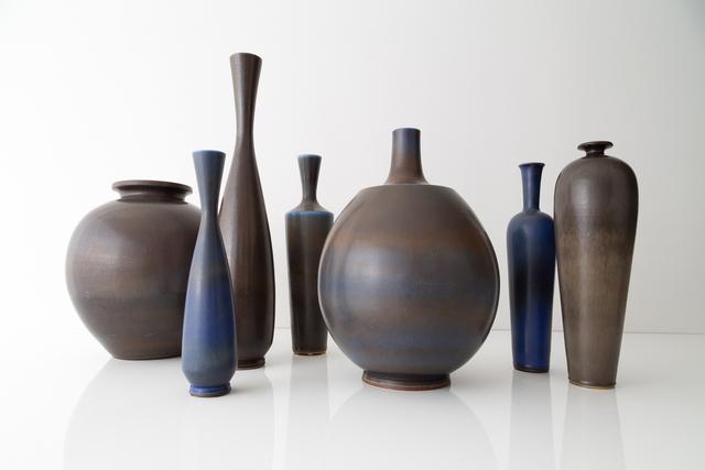, 'Collection of monumental studio vases,' ca. 1955, Hostler Burrows