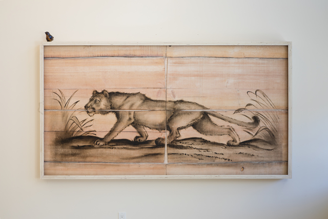 , 'Cougar Engraving Painting,' 2018, Mark Moore Fine Art