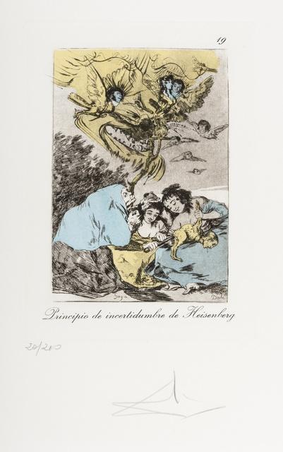 Salvador Dalí, 'Plate 19 (From Les Caprices de Goya de Dali) (M & L 866)', 1977, Print, Drypoint on heliogravure with stencil, Forum Auctions