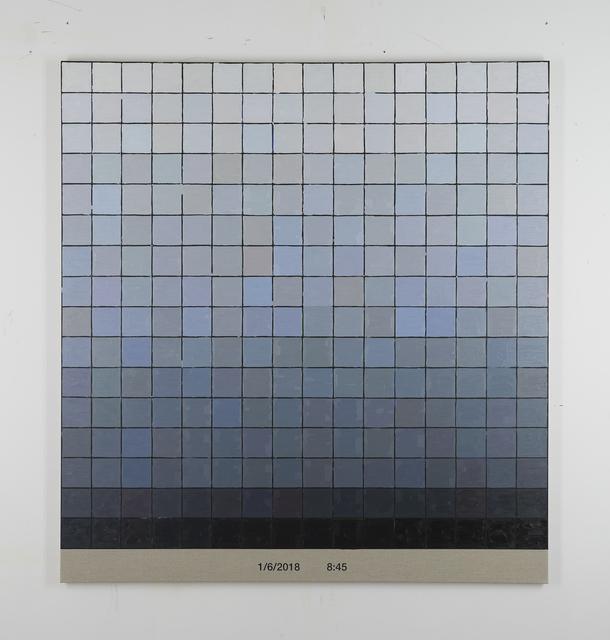 Stijn Cole, 'Colorscape 1 juni 8:45 2018', 2018, Whitehouse Gallery