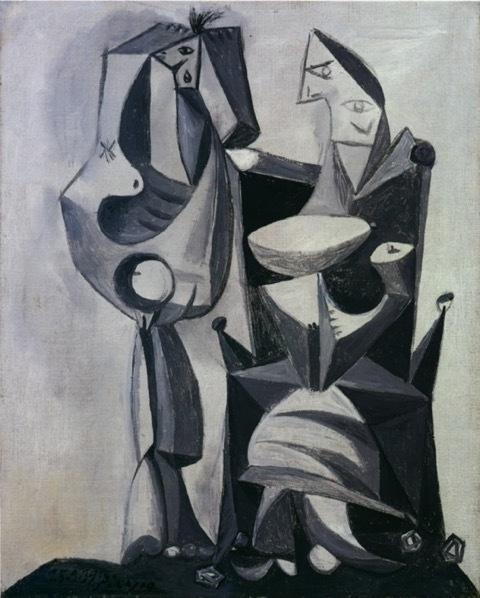 Pablo Picasso, 'Nu debout et femme assise', 1939, Painting, Oil on canvas, Mirat