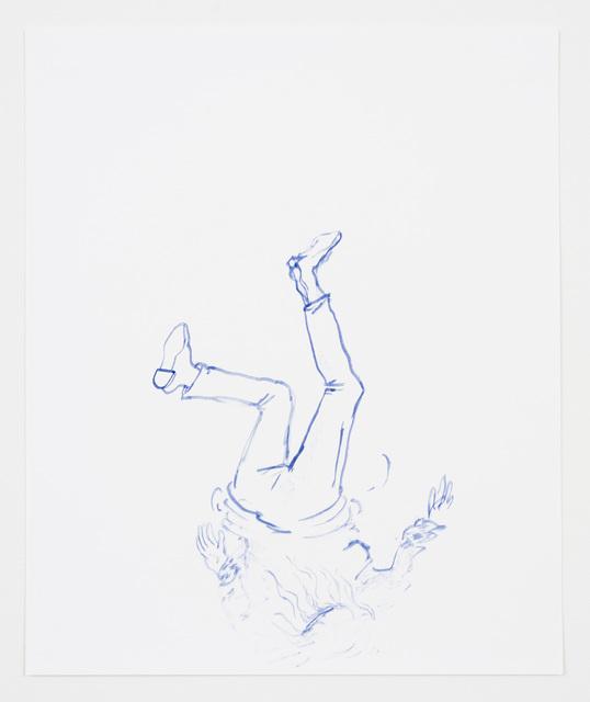 , 'No title (falling figure),' 2016, ANDREW RAFACZ