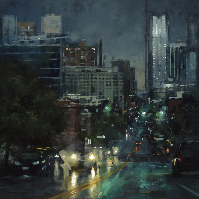 , 'The City at Dusk,' 2018, Abend Gallery