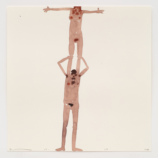 , 'Woman standing on man's shoulders 17.10.14,' 2014, Ingleby Gallery