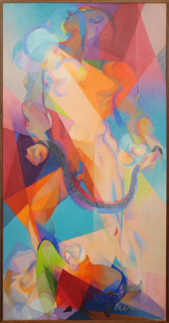 Stanton MacDonald-Wright, 'Prometheus', 1965, Painting, Oil on panel, Peyton Wright Gallery