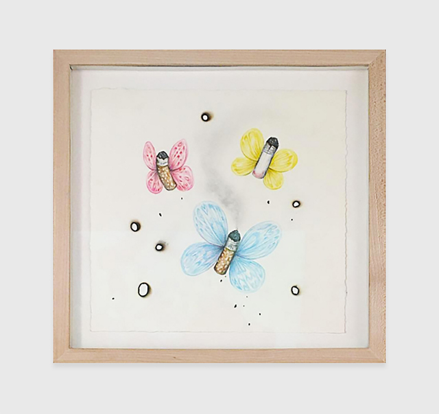 , 'Crap Butterflies (Blue Pink Yellow),' 2011, The Hole