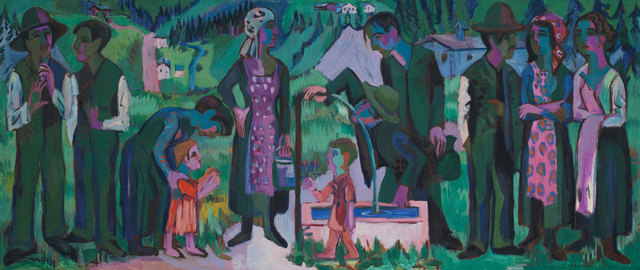 , 'Alpsonntag. Szene am Brunnen (Scene at the Fountain),' 1923-1925, Kunstmuseum Bern