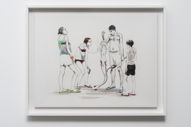 , 'Untitled (Tourist, fisherman with mudfish),' 2015, Pilar Corrias Gallery