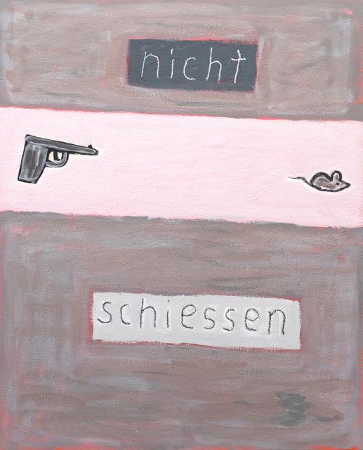 , 'o.T. (nicht schiessen),' 1989-2000, Ruttkowski;68