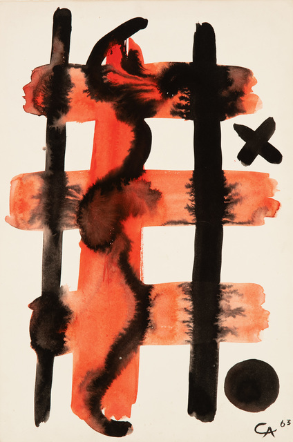 , 'Grid with Cross,' 1963, Hollis Taggart