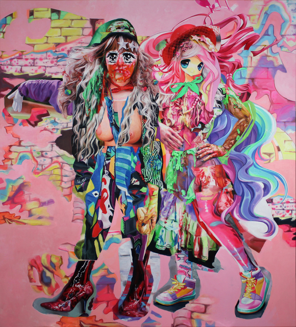 , 'Two Girls,' 2016, Allouche Gallery