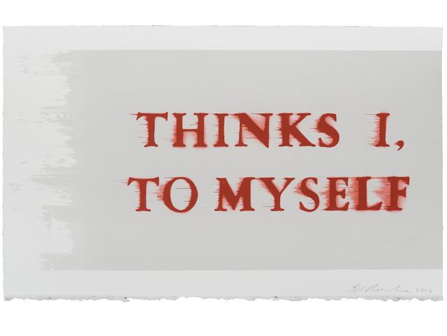 , 'Thinks I, To Myself,' 2016, Lyndsey Ingram