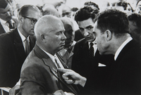 Elliott Erwitt, Nikita Khrushchev & Richard Nixon, Moscow, USSR