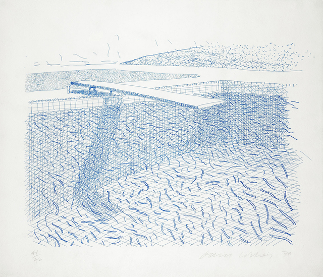 , 'Lithograph of Water Made of Lines,' 1978-1980, Andipa