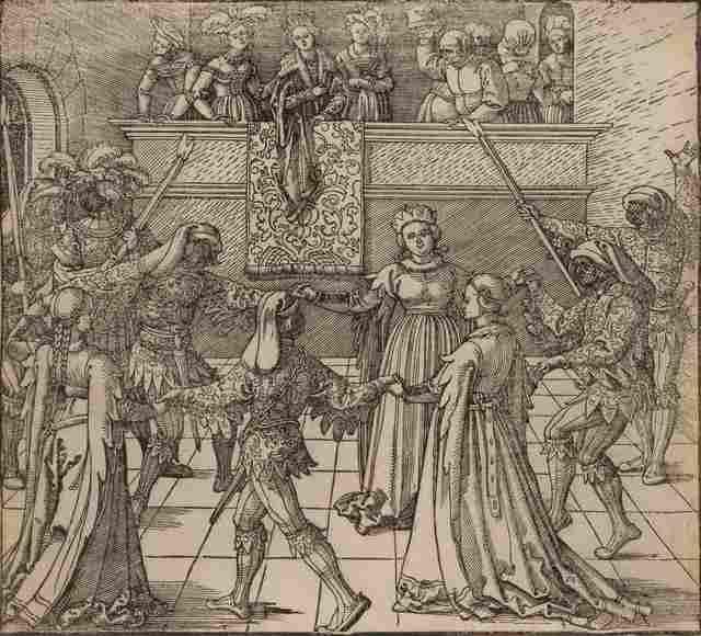 Albrecht Dürer, 'Masquerade Dance with Torches (from Freydal)', Print, Woodcut, Hindman