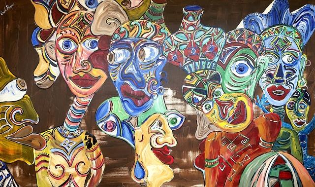 David Harper, 'Africa People Watching', 2018, White Court Art