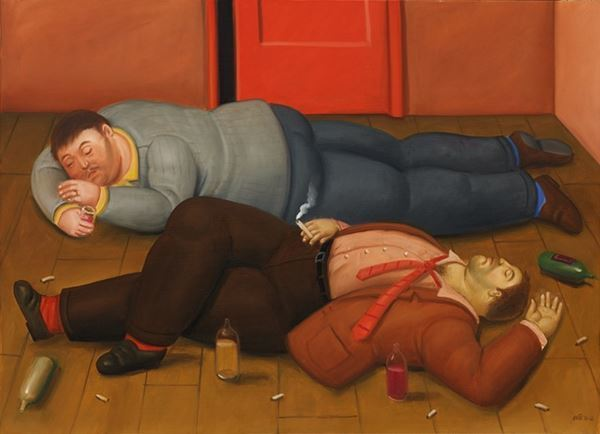 , 'Two Drunks,' 2012, Galeria El Museo
