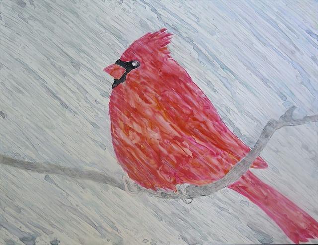 , 'Wet Cardinal,' 2009, Walter Wickiser Gallery
