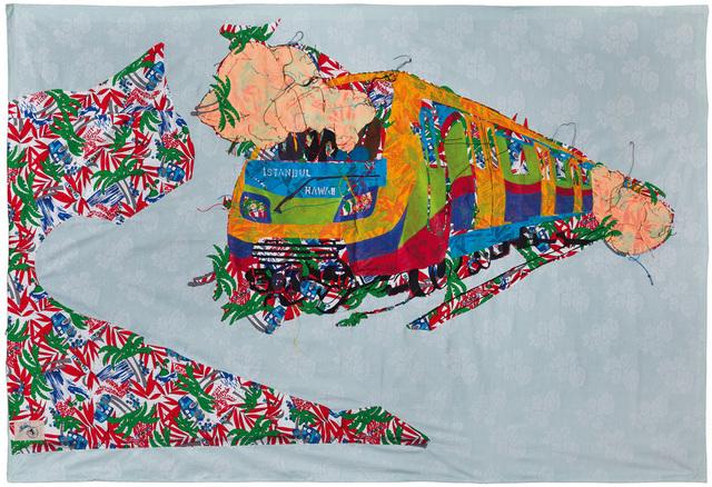 , 'Hawaiian Istanbul metro is in service,' 2013, artSümer
