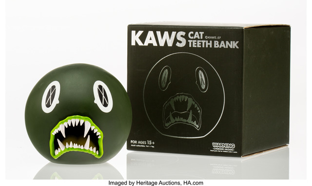 KAWS, 'Cat Teeth Bank (Green)', 2007, Heritage Auctions