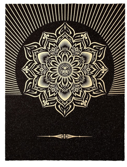 , 'Obey Lotus Diamond (Black and Gold),' 2013, Paul Stolper Gallery