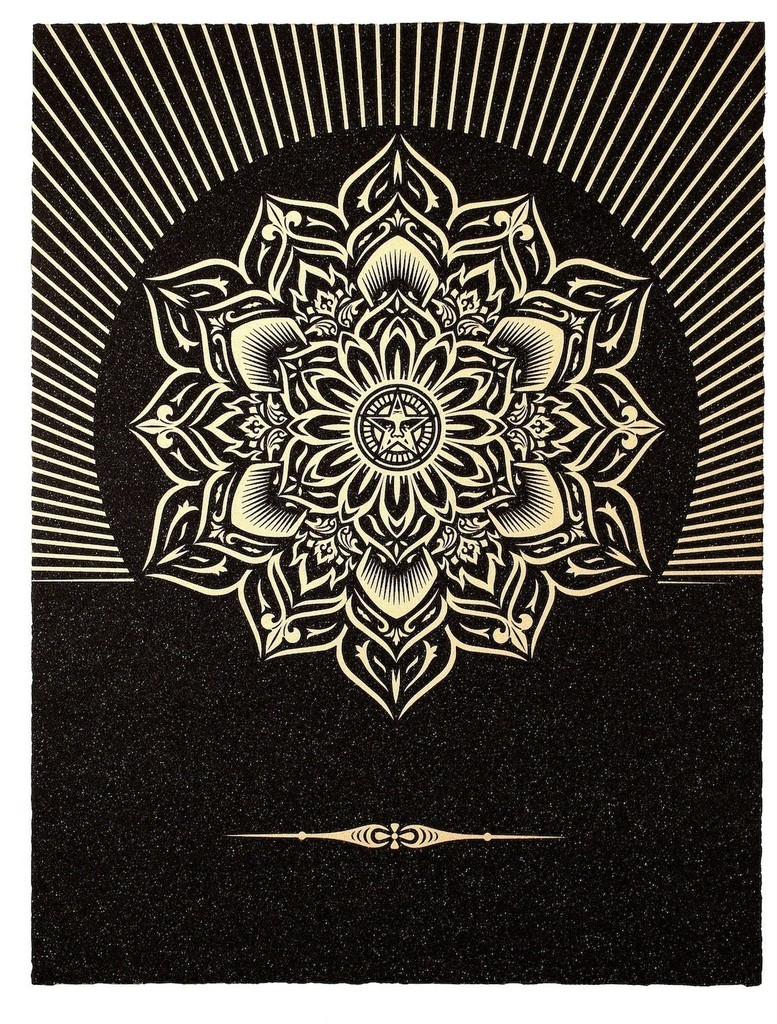 Shepard Fairey, 'Obey Lotus Diamond (Black and Gold),' 2013, Paul Stolper Gallery