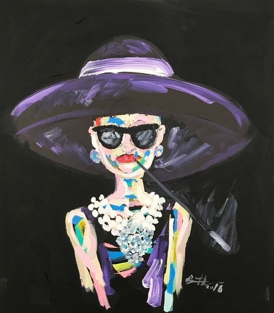 , 'Audrey with Cigarette Holder,' 2017, Maddox Gallery