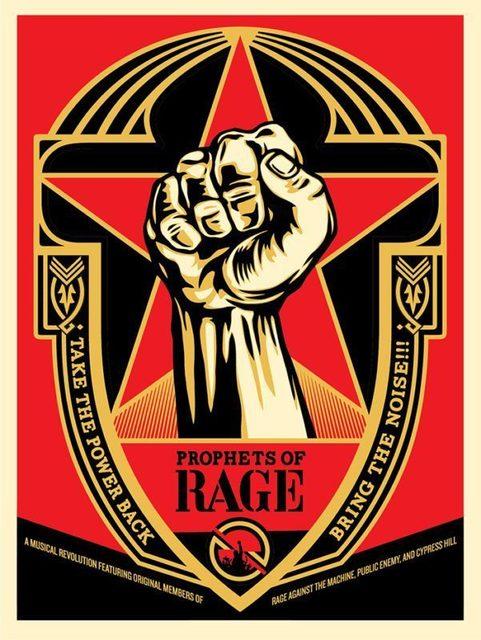 Shepard Fairey, 'Prophets of Rage', ca. 2016, AYNAC Gallery