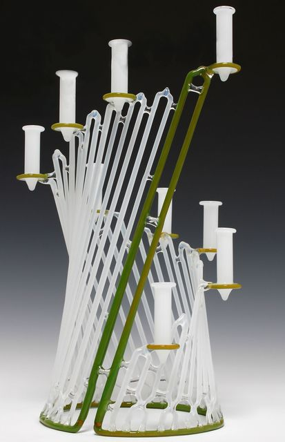 , 'Green and White Menorah,' 2013, Chesterfield Gallery