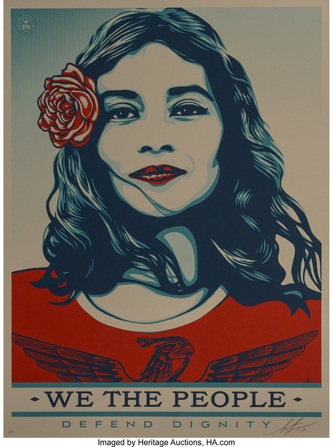 Shepard Fairey (OBEY), 'We the People (three works)', 2017, Heritage Auctions