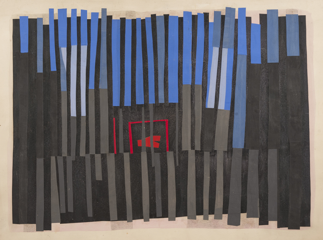 Margo Hoff, 'Room in the Woods', 1965-1975, Mixed Media, Acrylic, pencil, collage on paper, Peyton Wright Gallery