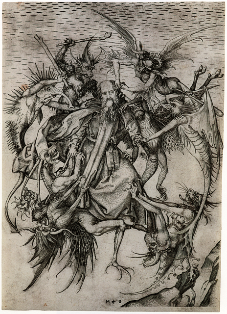 , 'The Tribulations of St. Anthony,' after 1470, Bowdoin College Museum of Art