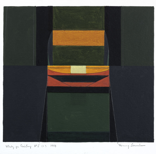 , 'Study for Painting, No.5,' 1994, Leon Tovar Gallery