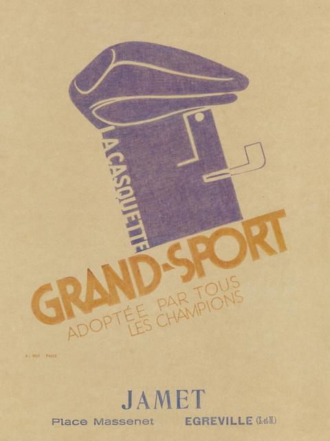 Adolphe Mouron Cassandre, 'LA CASQUETTE GRAND - SPORT', Swann Auction Galleries