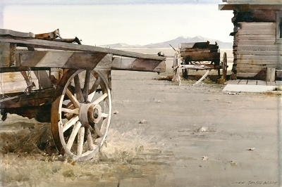 , 'Trail Town Wagons,' , Cutter & Cutter Fine Art