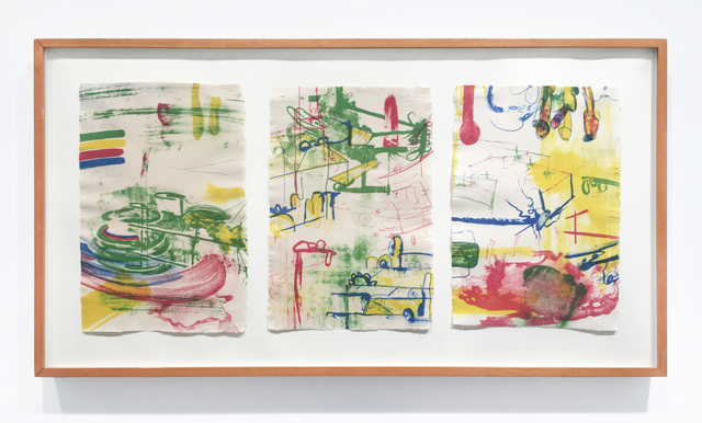 Carroll Dunham, 'Color Message A, B, C', 1985-1986, Rhona Hoffman Gallery