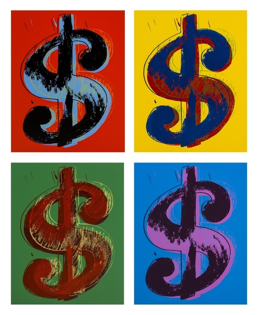Andy Warhol, 'Dollar Signs (Sunday B. Morning) (set of four)', 2013, Print, The complete set of four screenprints in colours, Forum Auctions