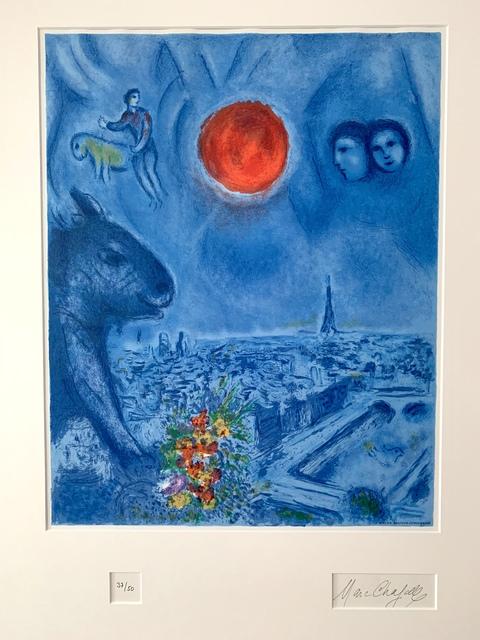 Marc Chagall, 'Le Soleil de Paris', 1977, Print, Lithograph, Van der Vorst- Art
