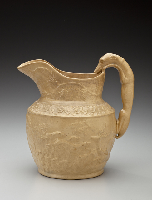 , 'Hound-handled pitcher; American Pottery Company, Jersey City,' 1840, Newark Museum
