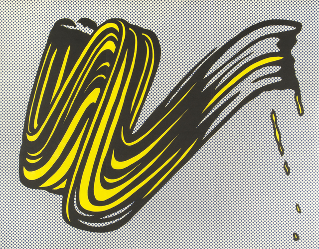 , 'Brushstroke (Castelli mailer),' 1965, Thomas French Fine Art